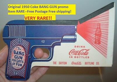 Vintage Toy 1950's Coca Cola Soda Pop Coke Pop Gun Coke Advertising Free Ship