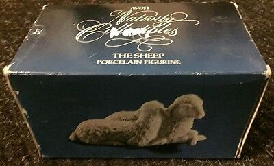 BOXED Avon Nativity Collectibles Sheep White Bisque China replacement EUC