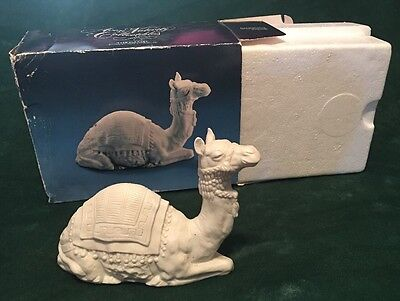 Avon Collectibles Nativity THE CAMEL White Bisque Porcelain Figurine in Box 1984