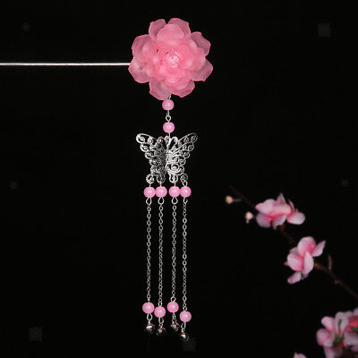 Vintage Floral Chinese Hair Sticks Clip Women Hairpin Chignon Pin Accessory