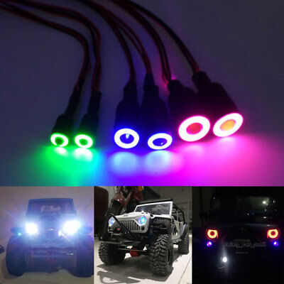 1/10 10mm/13mm 2 LEDs Angel & Demon Eyes LED Headlight Bulb for RC Truck Cars