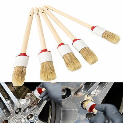 5x Universal Soft Detailing Brushes for Car Cleaning Wheel Vents Dash Trim Seats