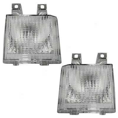 New Pair Set Park Signal Front Marker Light Unit Chevy GMC Pickup Truck SUV Van