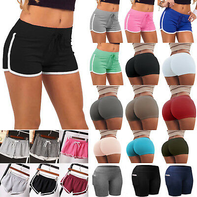Womens Yoga Shorts Summer Casual Beach Sports Running Fitness Jogging Hot Pants
