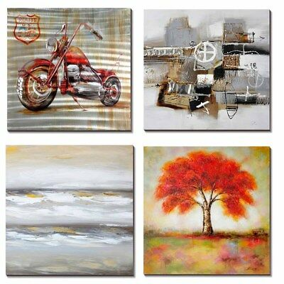 Abstract Handmade Oil Paintings W/ Frame Art Modern Wall Home Office Decoration