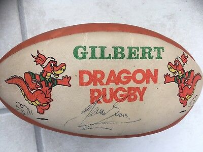 Signed Wales Team Rugby Union ball. Circa 1999.