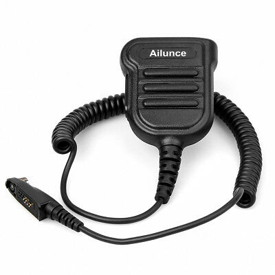 Ailunce HD1 speaker microphone  IP55 waterproof 3.5mm earphone jack for RT82 AU