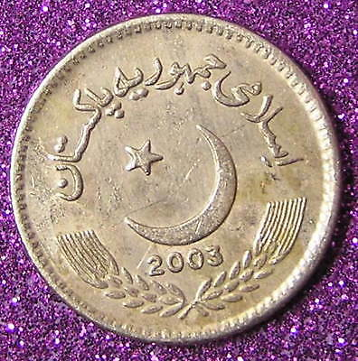 1-Coin from  Pakistan.  5-Rupees.  2003.