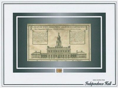 INDEPENDENCE HALL July 4, 1776 WOOD SHAVINGS signing of declaration Philadelphia
