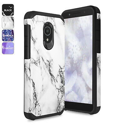 For Alcatel TCL LX Design Hybrid Shockproof Rugged Cover Phone Case