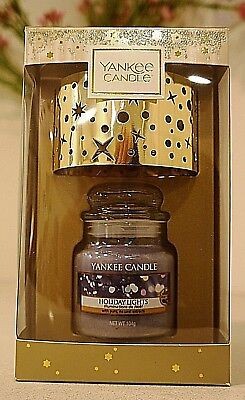 US Exclusive Yankee Candle Holiday Lights Small Jar & Shade Gift Set Brand New