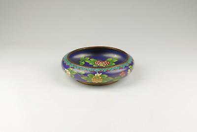 Superb 20thC Antique Chinese Cloisonne Enameled Floral Bowl Or Jardiniere