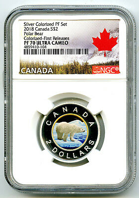 2018 $2 Canada Gilt/gold Silver Colored Proof Ngc Pf70 Uc Toonie First Releases