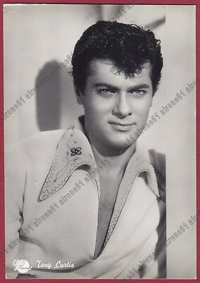 TONY CURTIS 08b ATTORE ACTOR CINEMA MOVIE STAR Cartolina FOTOGRAFICA - DEFECTS !