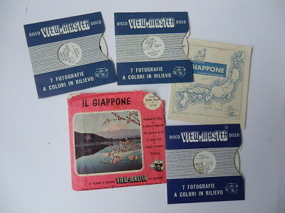 VIEW MASTER viewmaster dischetti IL GIAPPONE Japan 4900 vintage