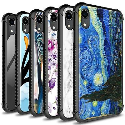 CoverON Gallery Series Apple iPhone XR / 10R Case Tempered Glass Phone Cover