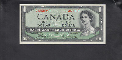 1954 Canada 1 Dollar Bank Note Devil Face Coyne / Tower