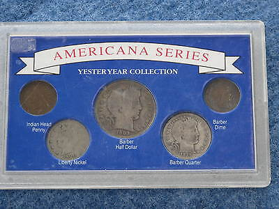 Americana Series Yesteryear Collection Barber Indian + in Custom Holder B7872