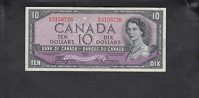 1954 Canada 10 Dollars Devil Face Bank Note Coyne / Tower