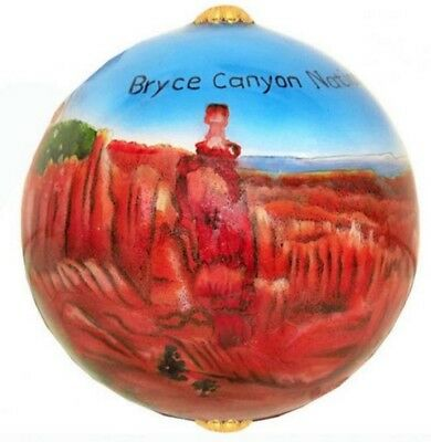 Bryce Canyon National Park Utah Reverse Painted Glass Ball Christmas Ornament