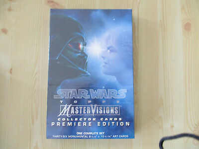 1995 Topps Star Wars Mastervisions Trading Cards Complete Set Factory Sealed