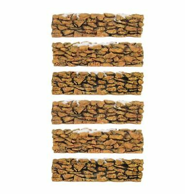 Department 56 Village Snowy Field Stone Wall Accessory Figurine 52629 Set of 6