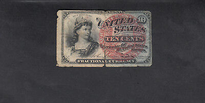 1863 Usa 10 Cents Bank Note