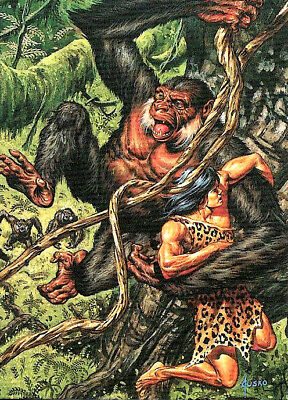 "Joe Jusko´s Karte 1 Stück Trading Cards ""Jungle Tales of Tarzan"" Neal Adams"