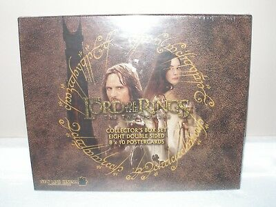 THE LORD OF THE RINGS Two Towers 8 POSTER CARDS Collector's Box Set New