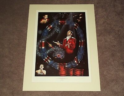 QUEEN / FREDDIE MERCURY The Majestic Musician - SIGNED TREVOR HORSWELL PRINT