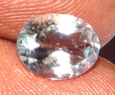 1.40 ct Natural Earth Mined Goshenite Aquamarine Bery 9 x 6 mm Gem #bgo822