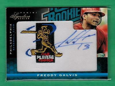 2012 Panini Signature Series Freddy Galvis Auto Mlb Players Patch Rc 211/299