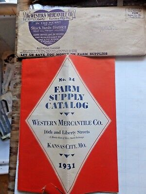1931 Western Mercantile Company Farm Supply Catalog - 56 pages. Well illustrated