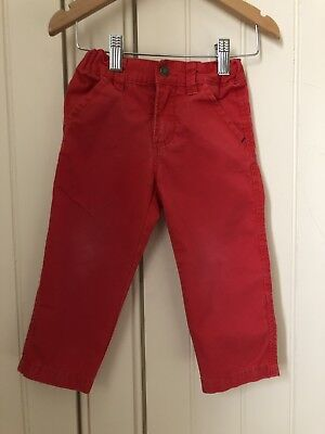 Polarn O Pyret Red Chino Trousers Age 1.5-2