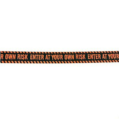 Enter at Your Own Risk Halloween Banner Tape Party Decoration 30 Feet Long New