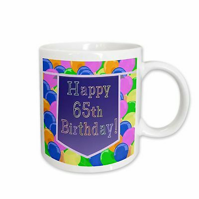 East Urban Home Balloons With Banner Happy 65th Birthday Coffee Mug