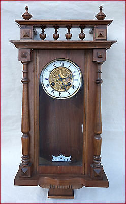 Art Nouveau Vienna Regulator Junghans Jugenstill 8 Days Movement Wall Clock 1900