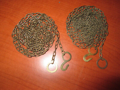 "Vintage Pair Cuckoo Clock Weight Chain 72""  62 LPF.   (200A7)"