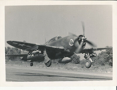 1944-5 WWII USAAF 340th BG Italy 6x8 Photo airplane with nose art takes off