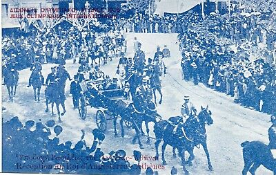 Greece - Athens 1906 - Royalty Arriving To Open The Games. (Intercalated Games)