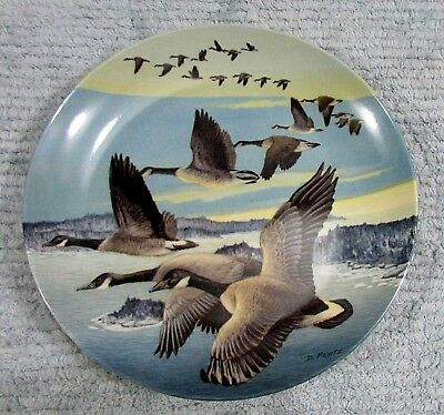 Canada Goose Southward Bound Donald Pentz 1987 Dominion Collector Plate FREE S/H