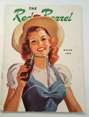 March 1949 The Red Barrel, Drink Coca Cola Magazine, Redhead in Sunbonnet
