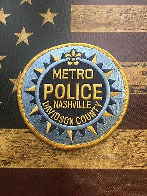 Police Patch: Metro Davidson County Nashville Tennessee Police Measures 4""