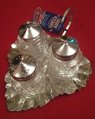 Silver Plated Cruet Set By Mayell (Queen Anne) - New In Box
