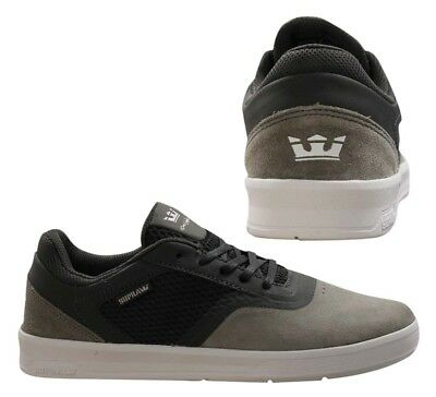 0c7edc48de99 Supra Saint Cupsole Low Top Lace Up Mens Trainers Dark Grey 05674 042 U91