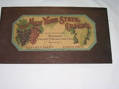 GRAPE LABEL/Mounted/New York State Widmer Grape Products, Naples, NY/Great Shape