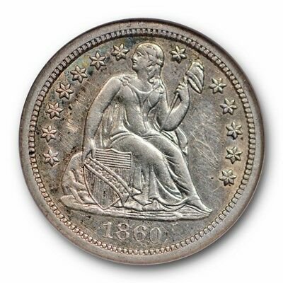 1860-S Seated Liberty Dime 10C NGC AU 58 About Uncirculated Tough Date
