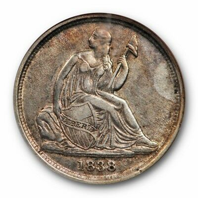 1838 O Seated Liberty Dime NGC AU 55 About Uncirculated Key Date