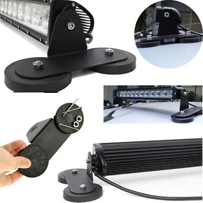 2x Powerful Magnetic Base Mount Bracket LED Work Light Bar Holder for SUV Black