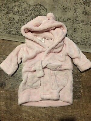Baby Girls Robe Dressing Gown 3-6 Months
